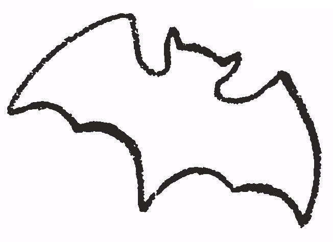 летучая мышь  Летучая мышка, трафарет