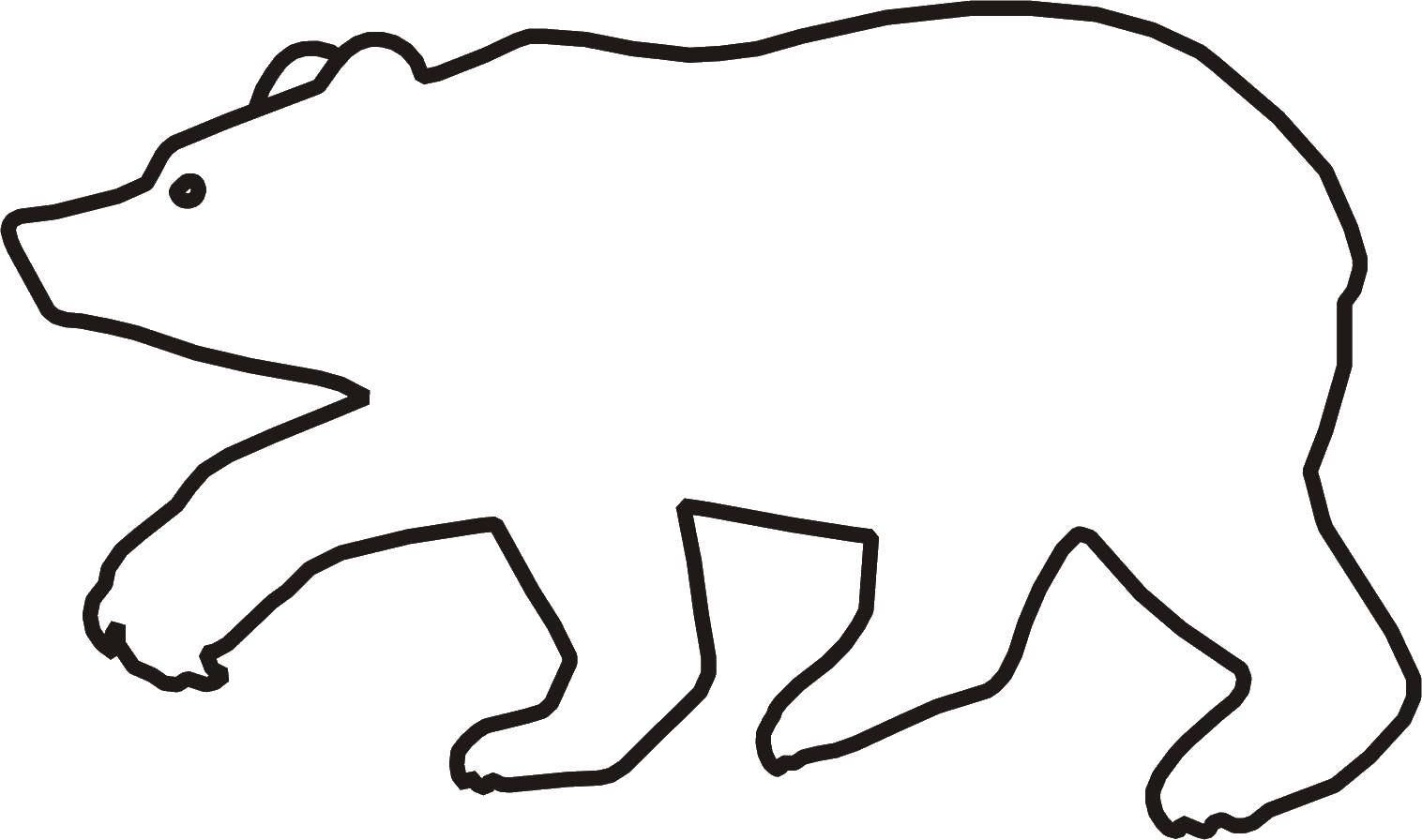 Медведь Раскраска контур - медведь.