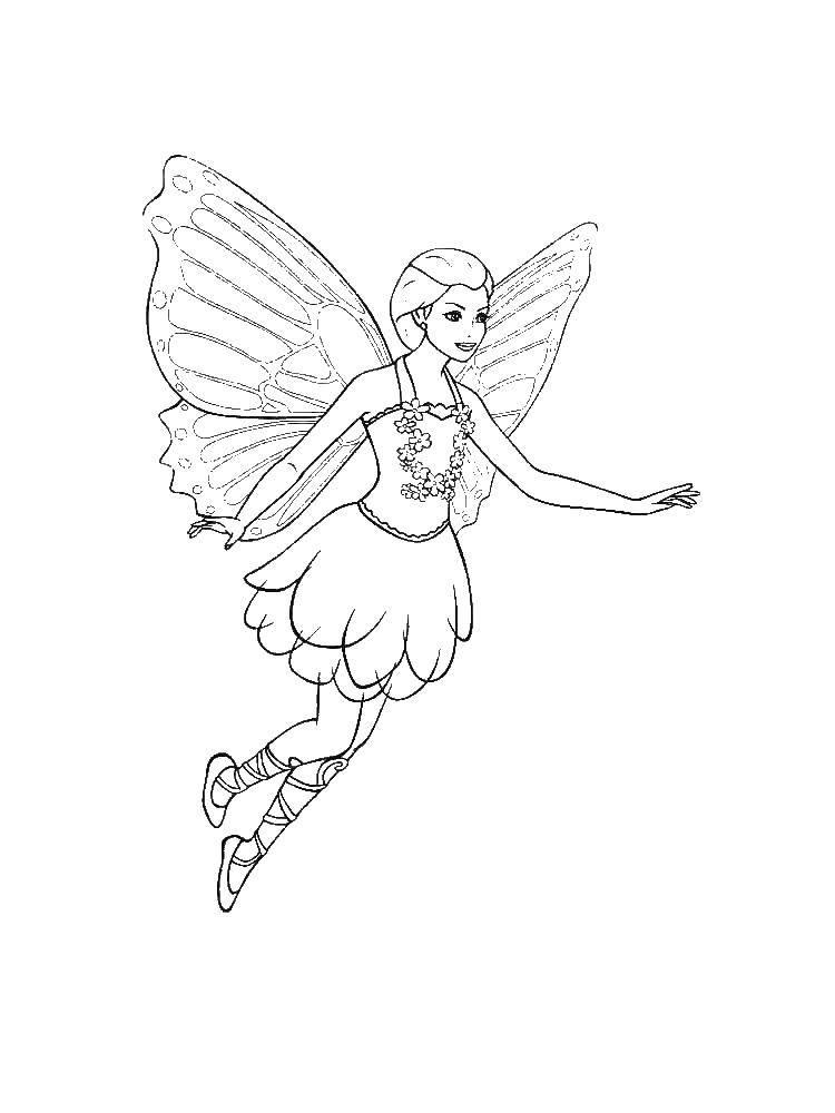 раскраски с фея по зарубежным мультфильмам для детей