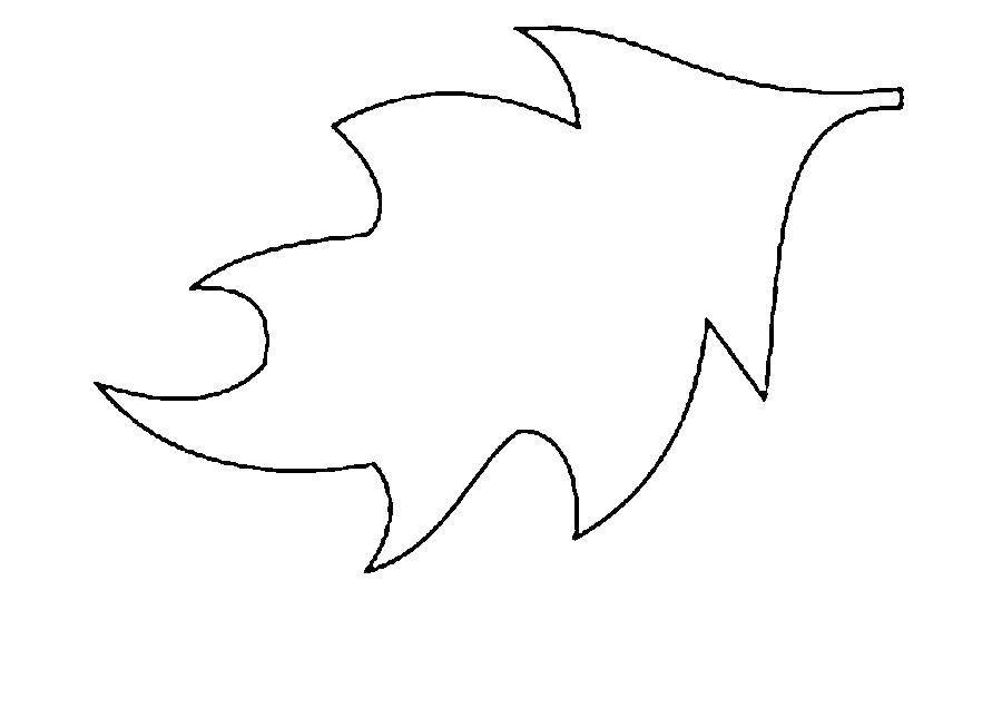 Раскраски контуры для вырезания листья детям  Лист