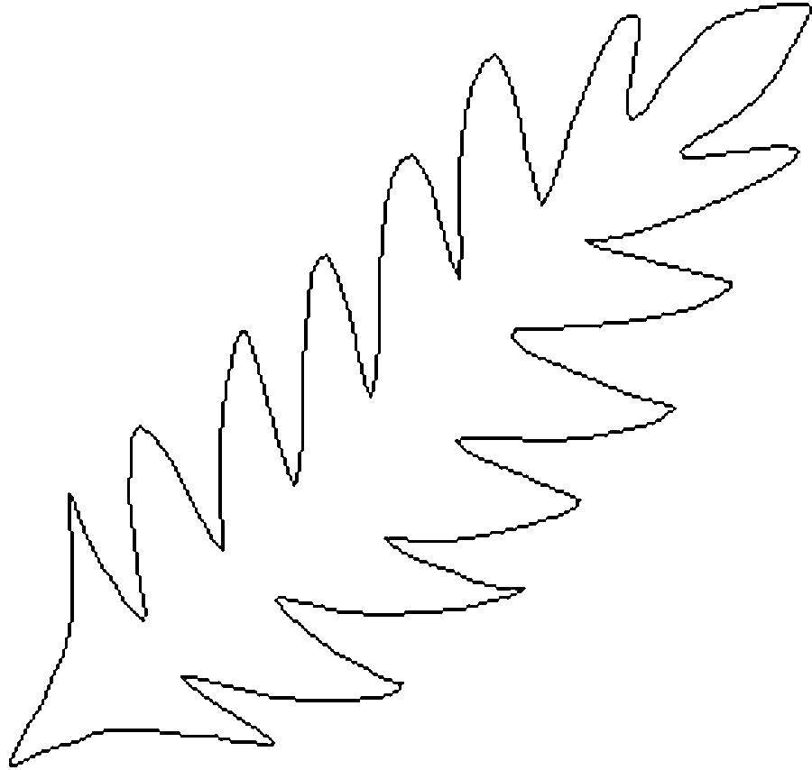 Раскраски контуры для вырезания листья детям  Лист цикорий