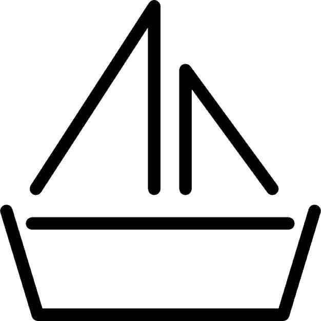 Контуры лодка раскраски  Контур лодки