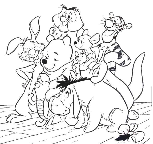 раскраски из зарубежного мультфильма про винни пуха и его ...