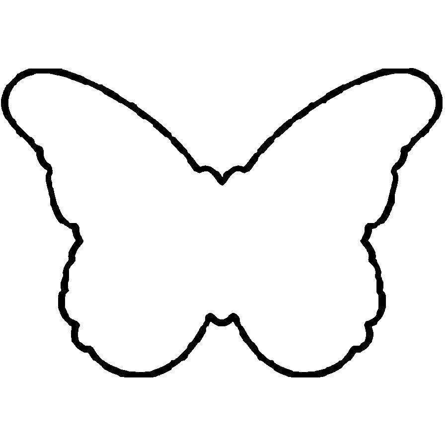 Раскраски контуры для вырезания красивые бабочки  Бабочка
