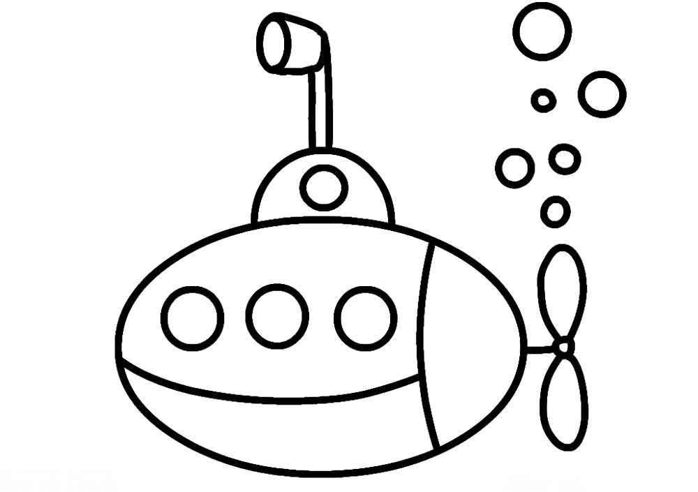 Контуры лодка раскраски  Скачать или распечатать раскраску распечатать скачать, подводная лодка