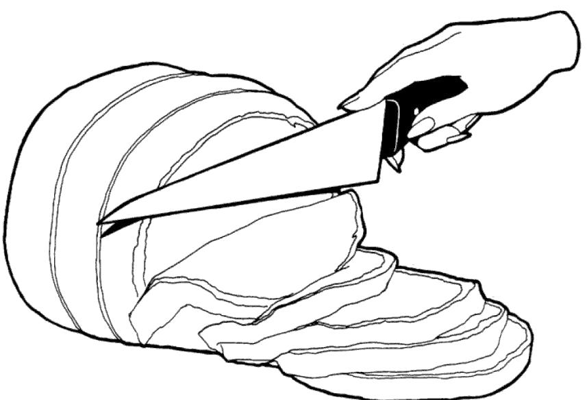 Раскраски еды хлеб торты пицца  Нарезка