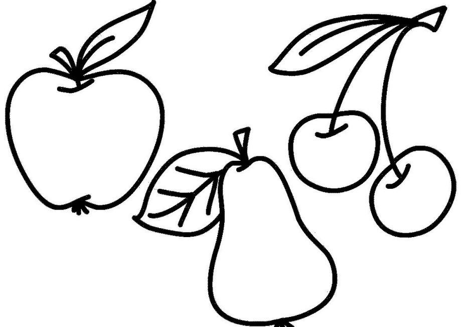 Раскраски контуры фрукты для вырезания из бумаги для детей, для занятий в начальной школе  Раскраски контуры фрукты для вырезания из бумаги для детей, для занятий в начальной школе