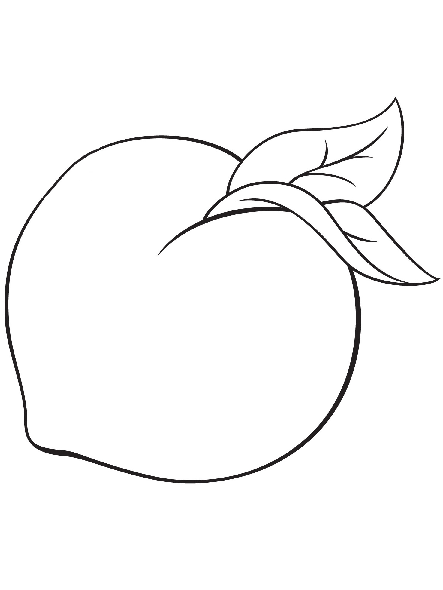 Раскраски контуры фрукты для вырезания из бумаги для детей, для занятий в начальной школе
