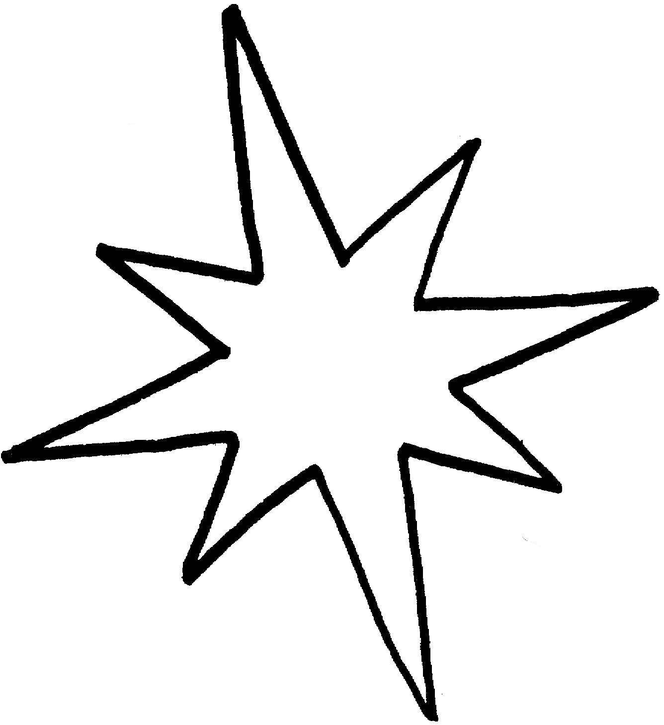 Раскраски контуры звезда для вырезания из бумаги для самых маленьких  Раскраски контуры звезда для вырезания из бумаги для самых маленьких