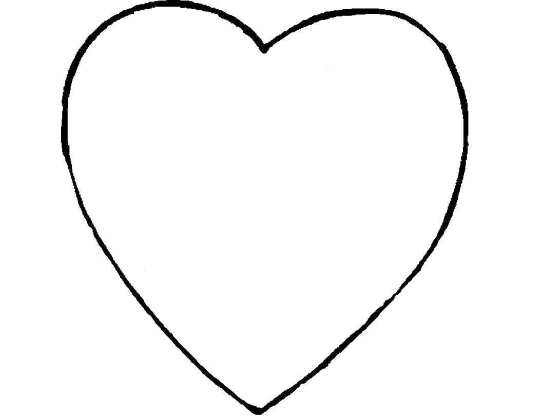 Раскраски контуры сердце для вырезания из бумаги  Раскраски контуры сердце для вырезания из бумаги