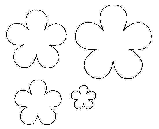 Раскраски контуры цветов для вырезания из бумаги для самых маленьких  Раскраски контуры цветов для вырезания из бумаги для самых маленьких