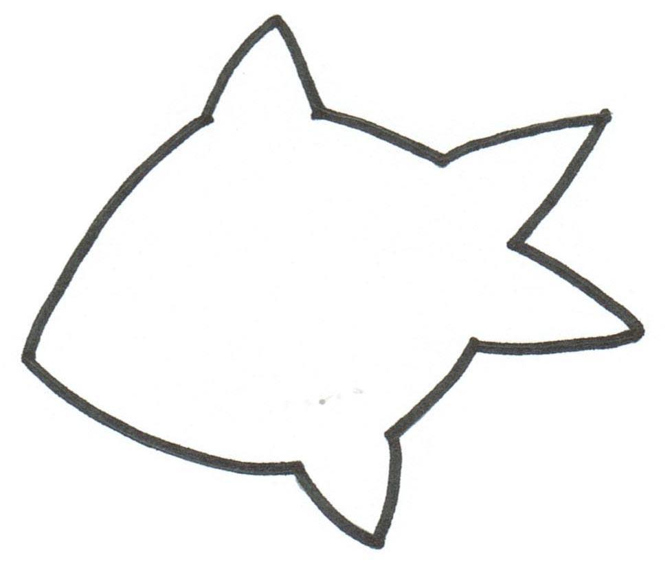 Раскраски контуры морских животных для вырезания из бумаги детям