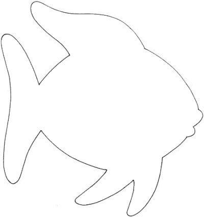 рыбка  Раскраски контуры морских животных для вырезания из бумаги детям