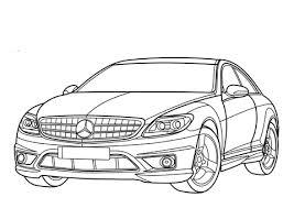 раскраски на тему машины Mercedes Benz   для детей. Интересные раскраски с машинами Mercedes Benz   для мальчиков и девочек. Mercedes Benz