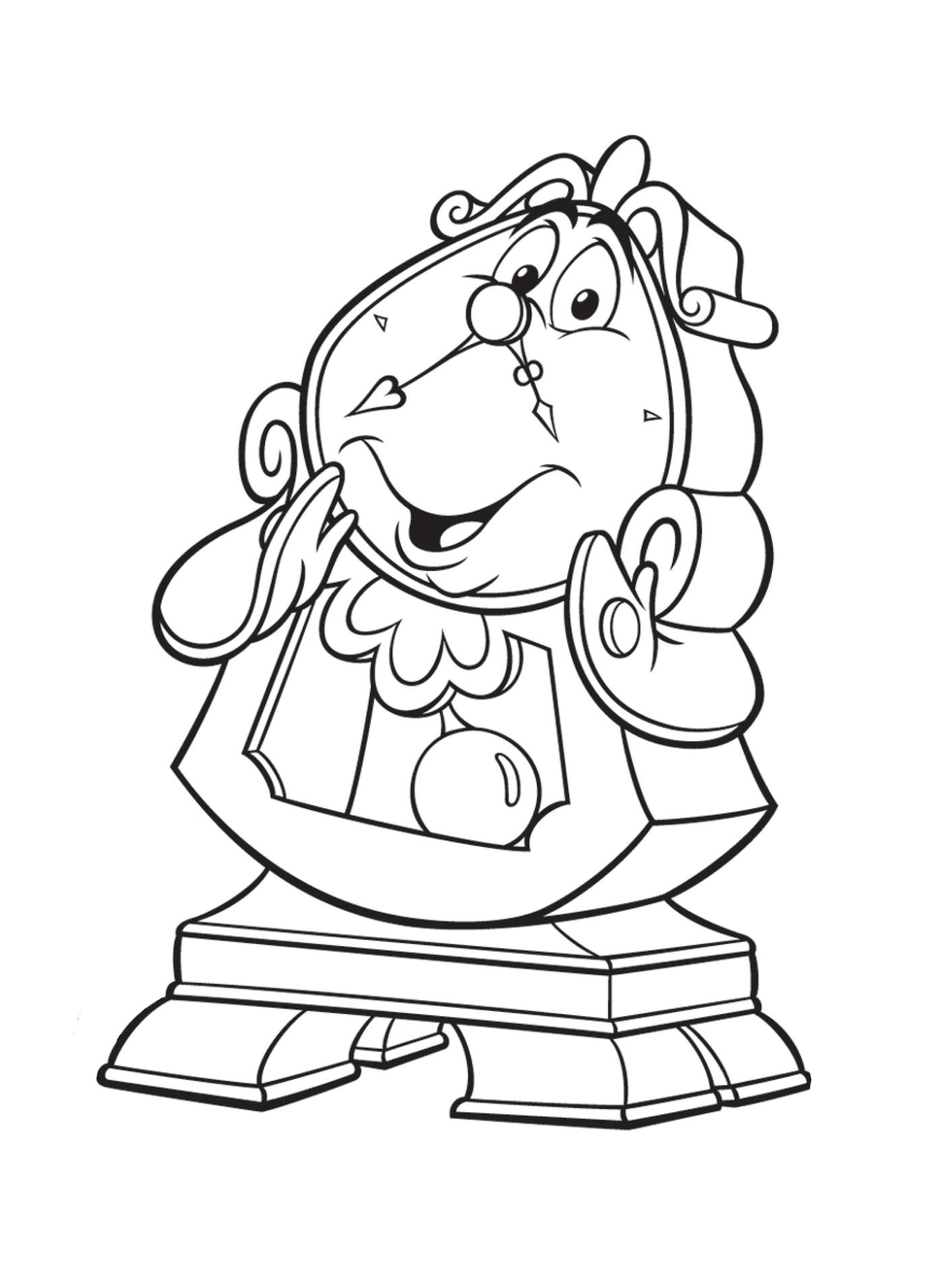 раскраски по мотивам сказки красавица и чудовище для детей