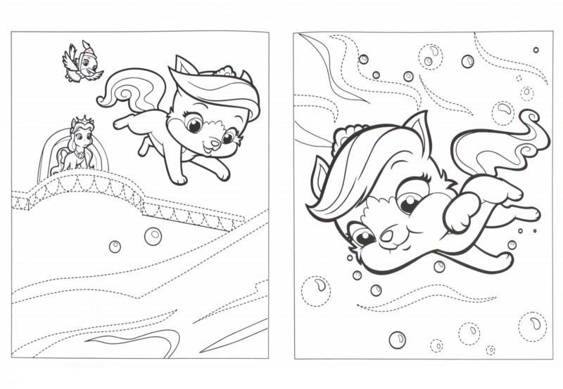 раскраски для девочек с любимыми питомцами раскраски для детей