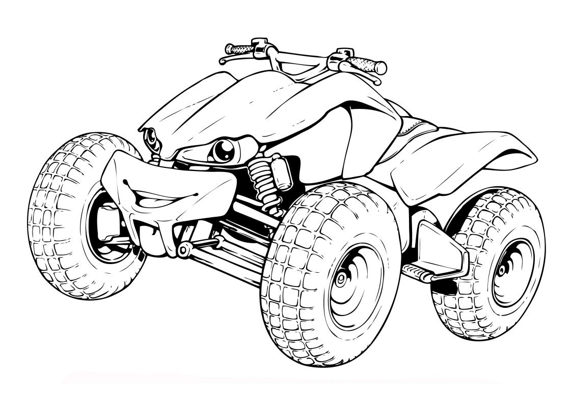 Квадроциклы. Раскраски на тему транспорт. Раскраски для мальчиков с квадроциклами. Раскраски с транспортом.