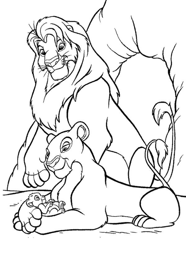 раскраски на тему король лев             раскраски на тему король лев для мальчиков и девочек. Интересные раскраски с персонажами диснеевского мультфильма король лев для детей