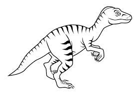 Раскраски с динозавром велопцераптором Скачать и распечатать раскраску велопцераптора