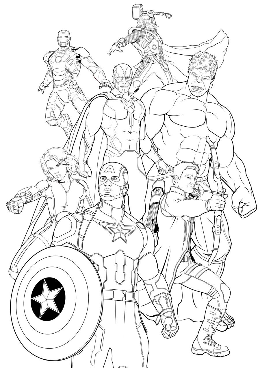 раскраски с мстителями для мальчиков раскраски по комиксам ...