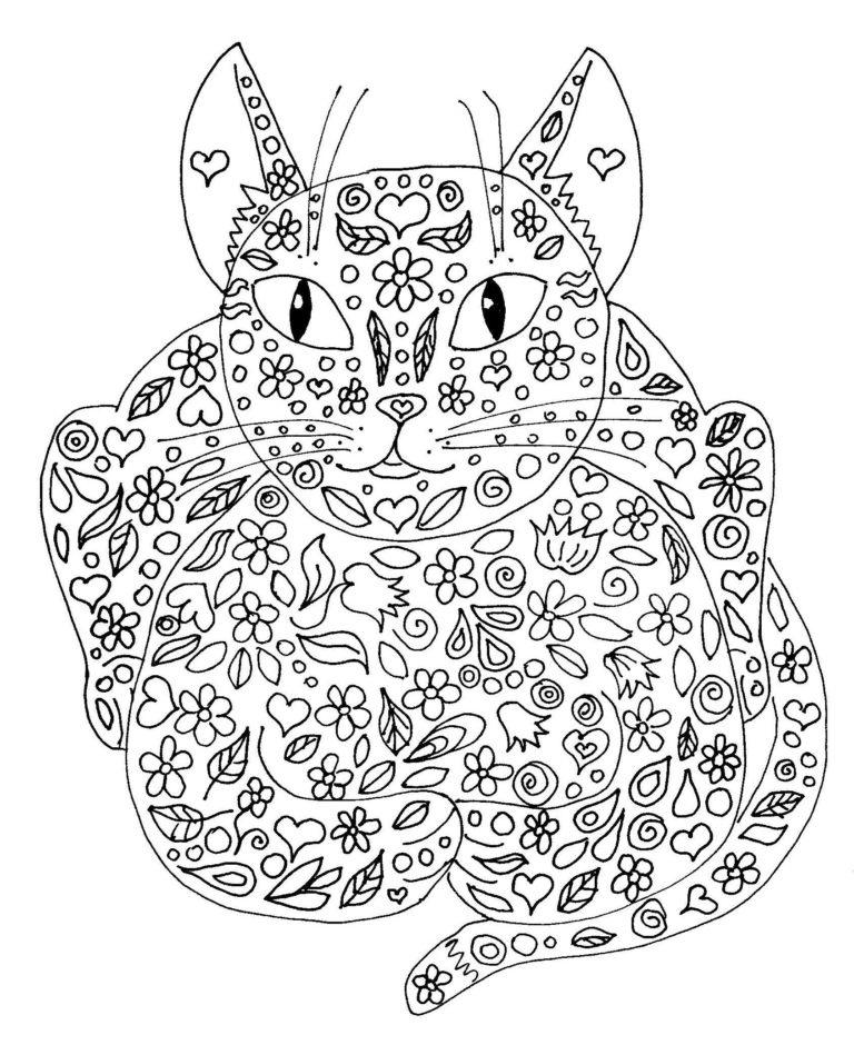 Раскраски антистресс для взрослых. Раскраски на тему кототерапии, предназначеные для снятия напряжения и стресса, используются в качестве арт-терапии. Кототерапия.
