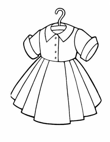 раскраски с платьями для девочек раскраски для детей скачать