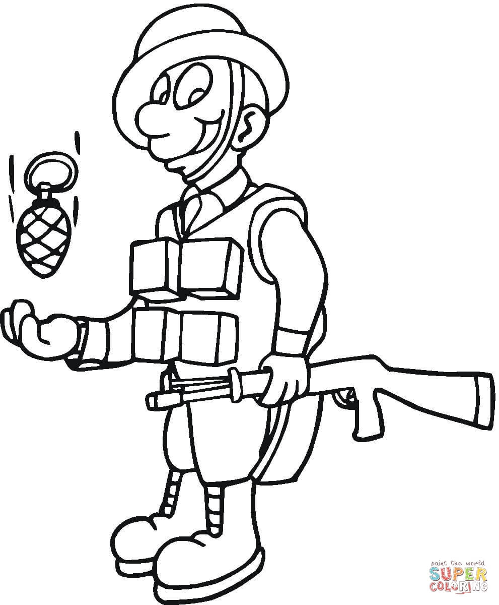 раскраски с солдатами для детей