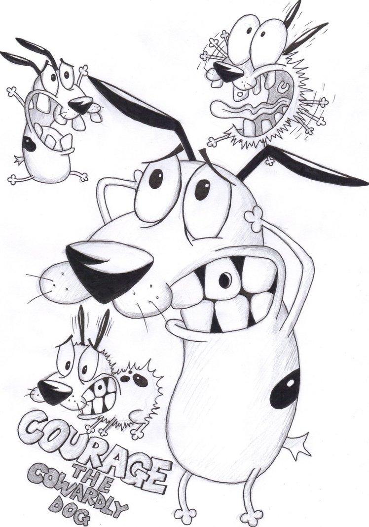 Интересные раскраски на тему кураж трусливый пес                раскраски на тему кураж трусливый пес для мальчиков и девочек. Интересные раскраски с персонажами мультфильма кураж трусливый пес