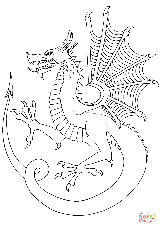 раскраски с драконами для детей