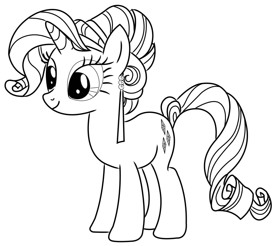 раскраски на тему май литл пони