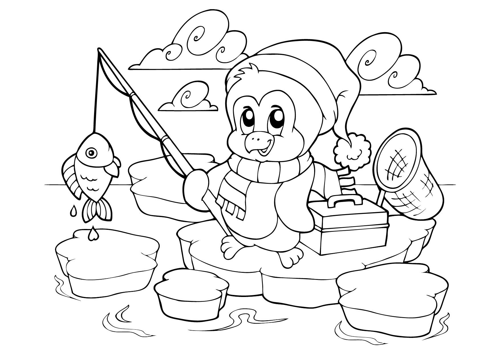 Пингвины раскраски распечатать - Все для детского сада | 1241x1754
