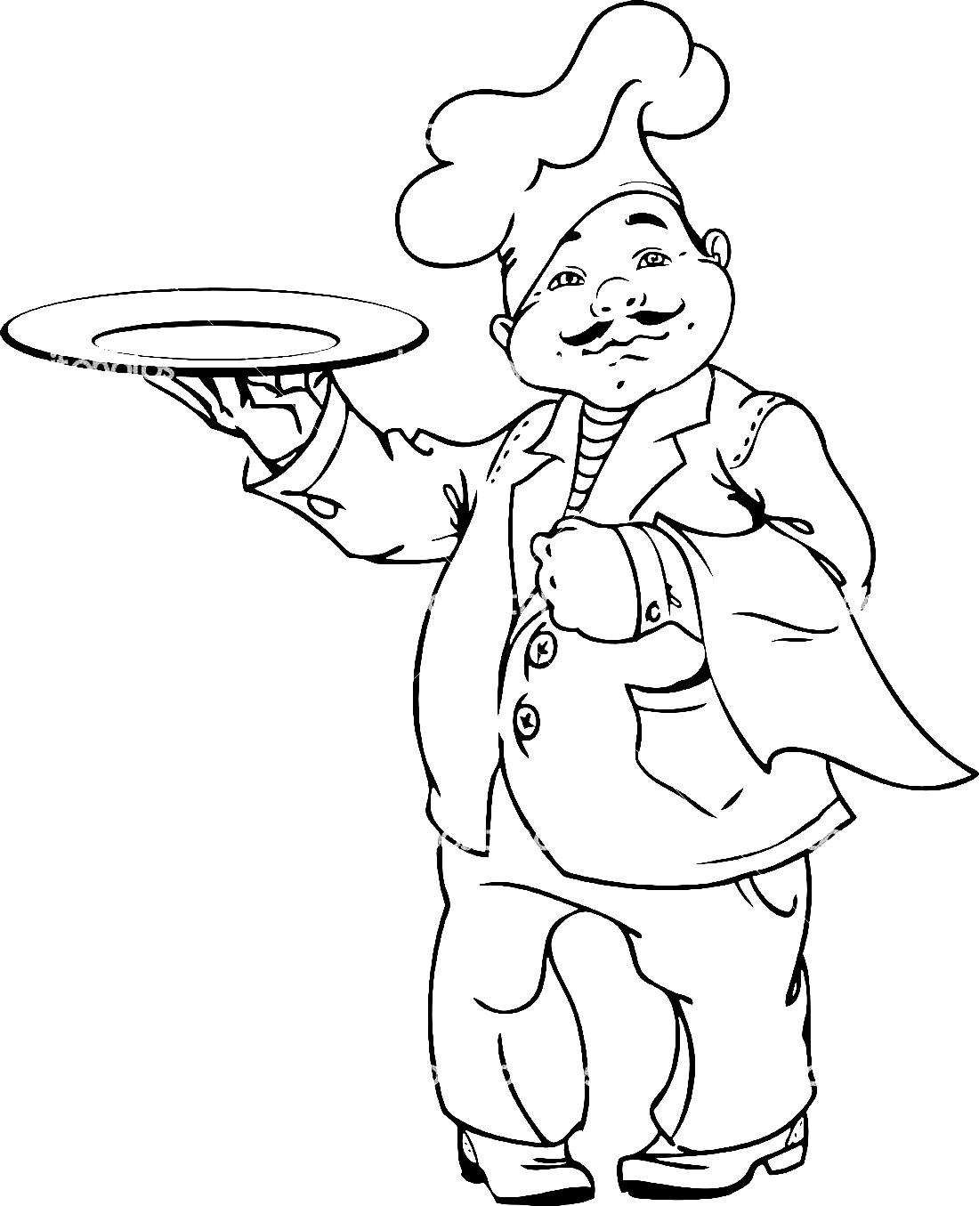 раскраски на тему день повара           раскраски на тему день повара для мальчиков и девочек. Интересные раскраски с поварами на день повара. Раскраски с днем повара для детей