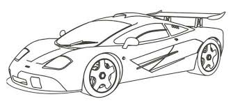 раскраски на тему спортивные машины для детей.  раскраски со спортивными машинами для мальчиков и девочек