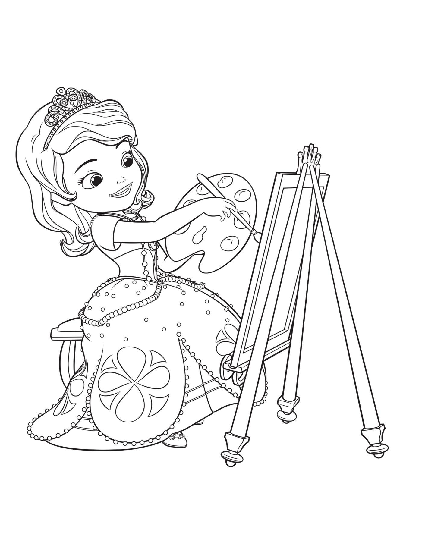 раскраски с принцессой софия для детей