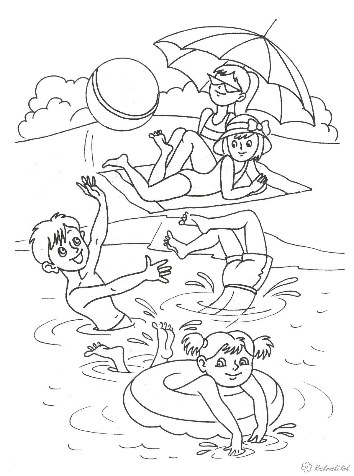 раскраски на тему река для детей