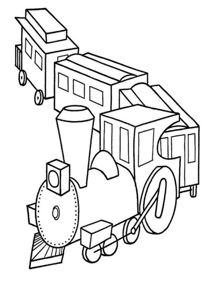 раскраски для детей и малышей с изоббражениями поездов и ...