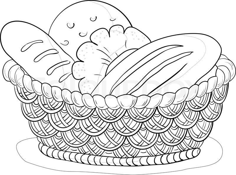 Хлеб. Раскраски на тему хлеб. Раскраски на тему еда.           Хлеб. Раскраски на тему еда, хлеб, выпечка. Раскраски для детей на тему еда. Раскраски хлеб. Скачать раскраски с изображением хлеба.