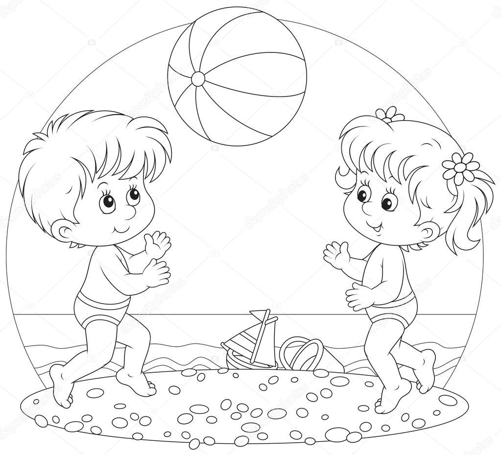 раскраски на тему море для детей