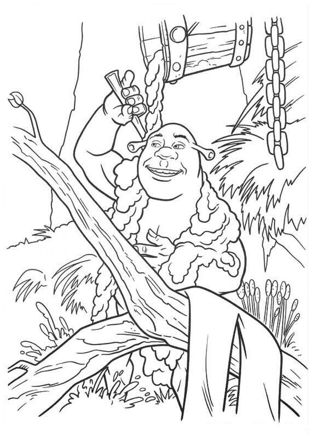Мультфильм Шрек. Шрек и Фиона счастливы вместе.               Раскраска Шрек и Фиона. Болото Шрека. Злая тетушка Фея Фионы. Свадьба Шрека и Фионы. Огр и принцесса. История любви Шрека и Фионы.
