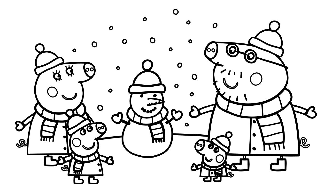 раскраски для детей с героями мультиков свинка пеппа ...