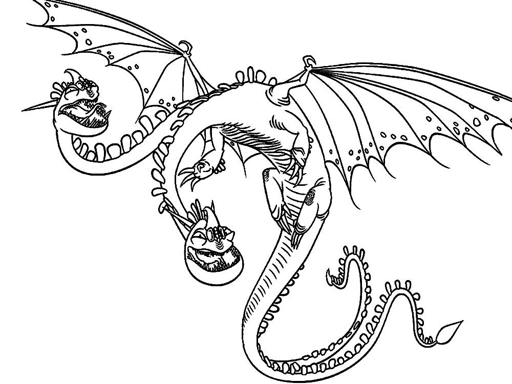 раскраски на тему как приручить дракона