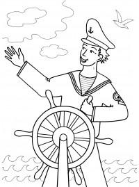 раскраски для детей на тему моряк