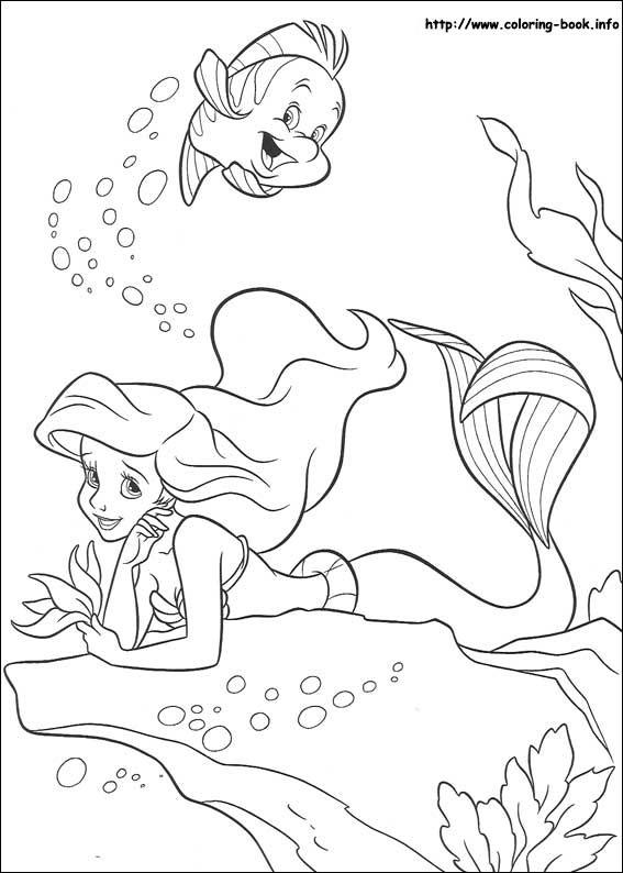 Интересные   и  забавные раскраски на тему русалочка            раскраски на тему русалочка для мальчиков и девочек. Интересные раскраски с персонажами диснеевского мультфильма русалочка для детей