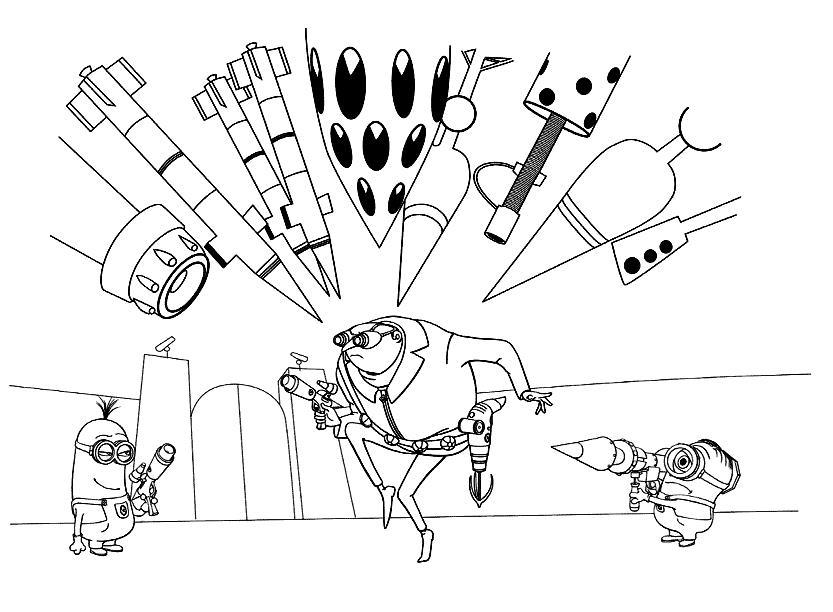 раскраска гадкий я для детей раскраска с изображением миньонов