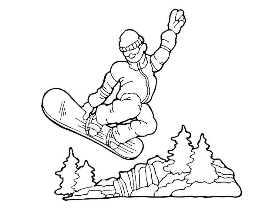 раскраски на тему международный день зимних видов спорта для детей. Раскраски с зимними видами спорта для мальчиков и девочек