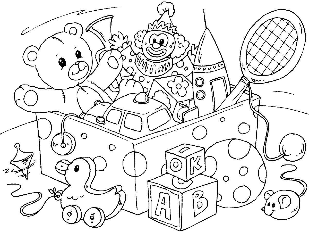 раскраски для детей с игрушками раскраски для детей ...