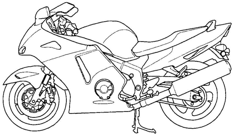 раскраски для мальчиков разного возраста на тему мотоциклы