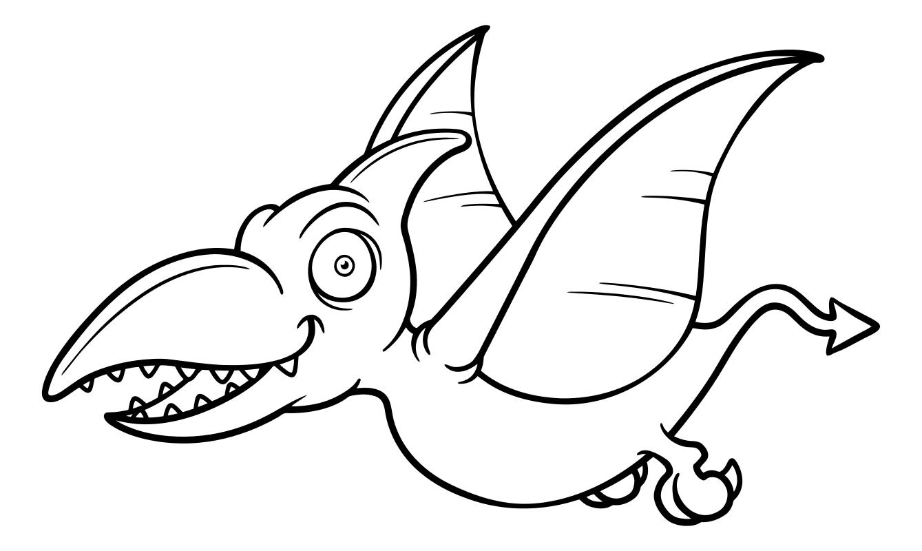 Раскраски с летающим динозавром птеродактилем Раскраски с динозаврами для девочек и мальчиков. Скачать и распечатать бесплатно.