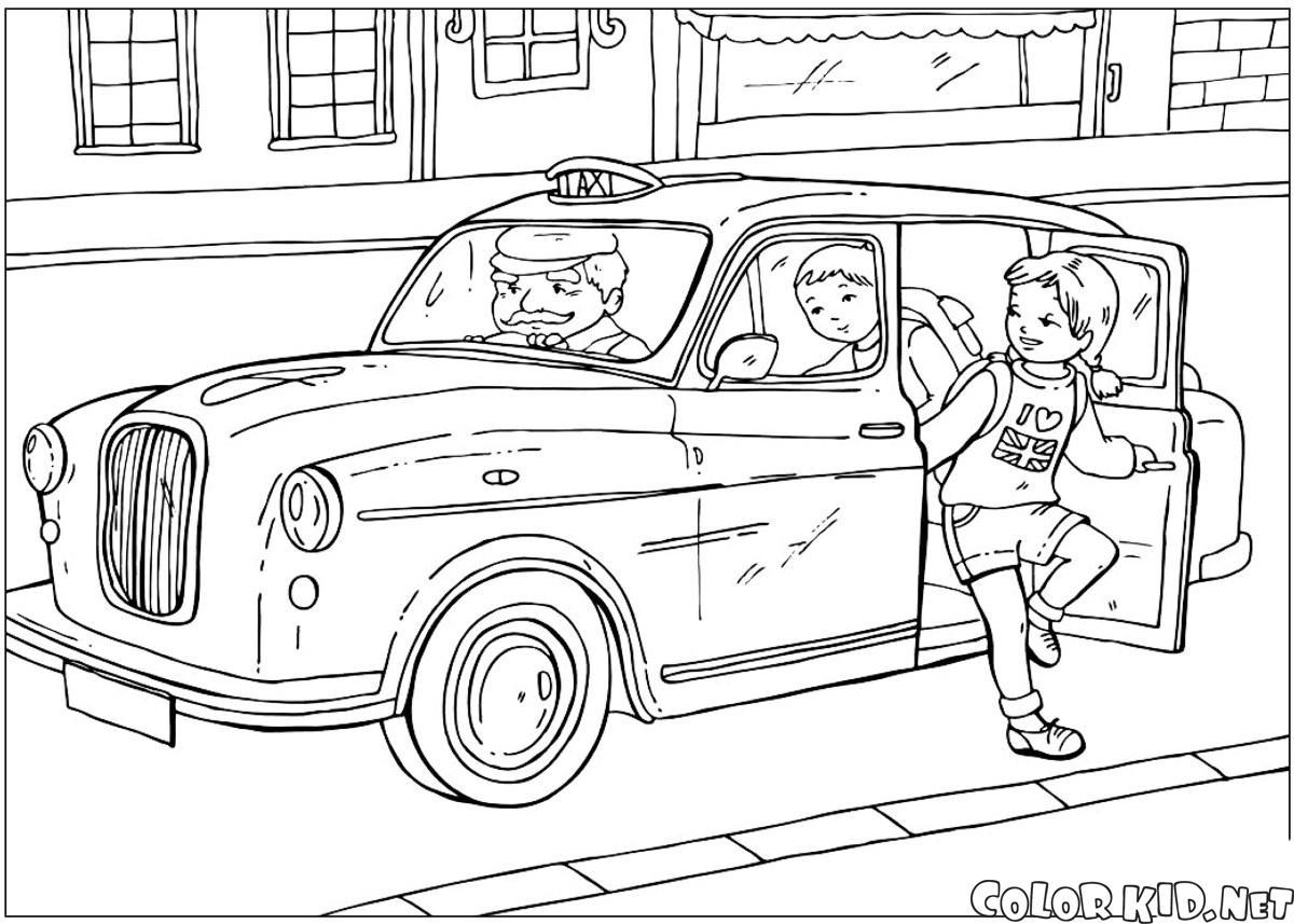 раскраски на тему такси для детей         раскраски на тему такси для детей.  раскраски с такси для мальчиков и девочек. раскраски с видами транспорта