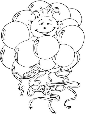 раскраски с воздушными шариками для детей  раскраски на тему воздушные шарики для детей. Раскраски с шариками для мальчиков и девочек. Воздушные шарики для детей